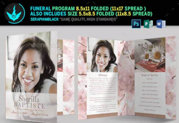 Funeral Booklet Template in PSD