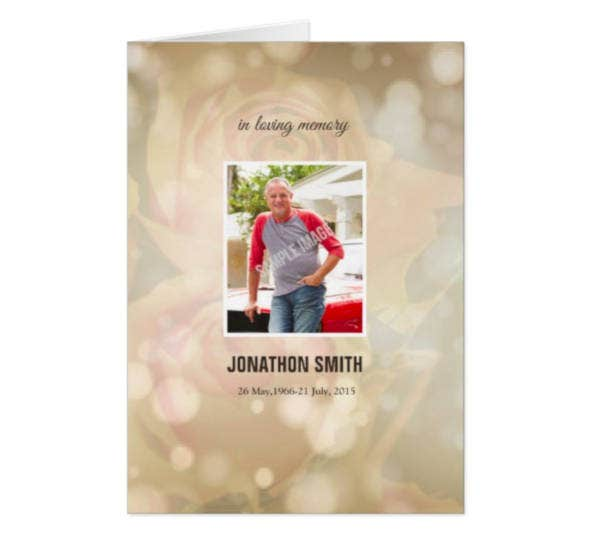 Funeral Brochure Design Template