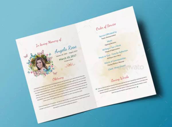 funeral brochure example