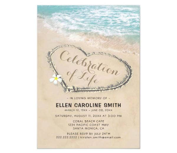 funeral memorial invitation design