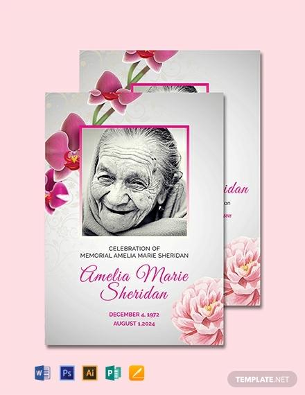 funeral memorial prayer card template