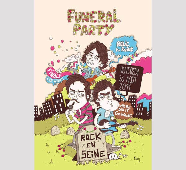 Funeral Party Poster Design