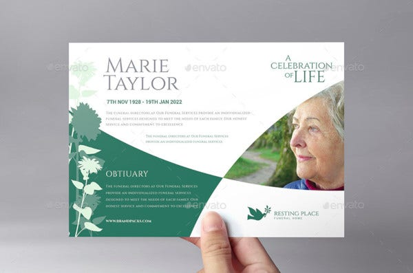 funeral service flyer template
