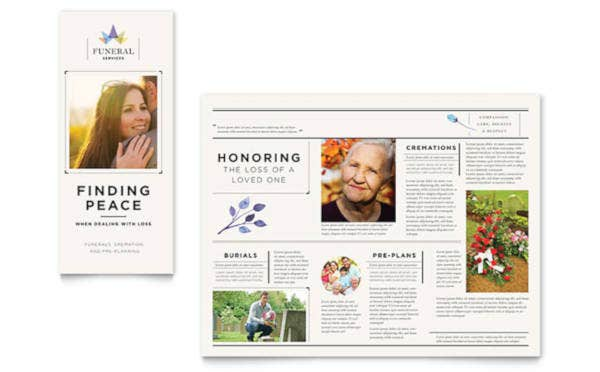 Funeral Services Brochure Template