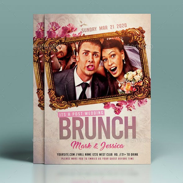 Funny Wedding Event Flyer Template