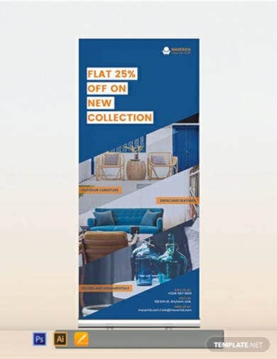 furniture sale roll up banner template