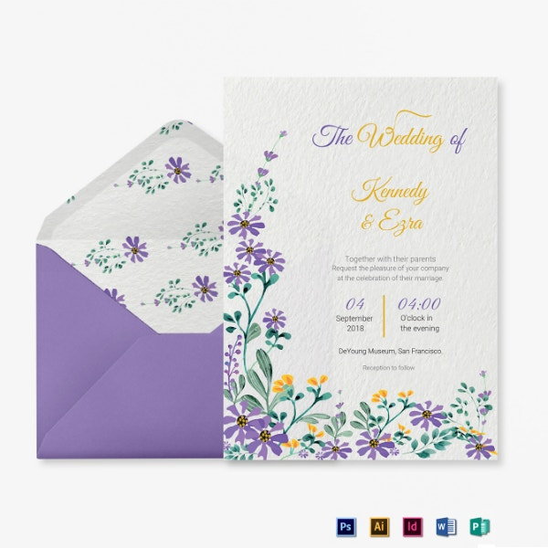 garden wedding ceremony invitation format