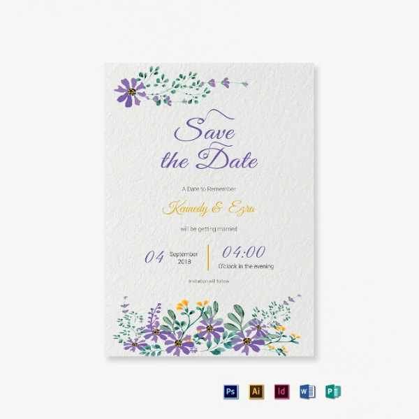 garden wedding save the date sample