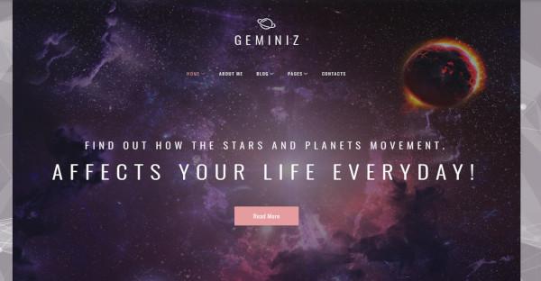 Geminiz - Mobile Friendly WordPress theme