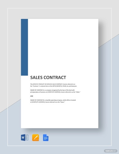 genaral sales contract template