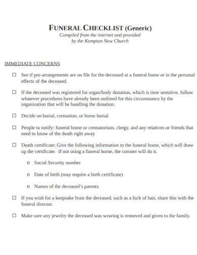 generic-funeral-checklist-template