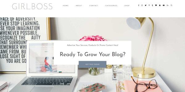 Girlboss – Social Media WordPress Theme