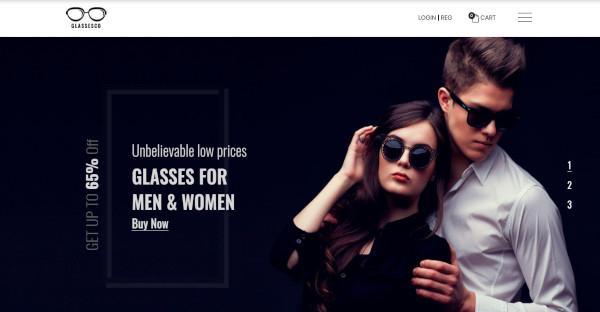 glassesco – mobile friendly wordpress theme