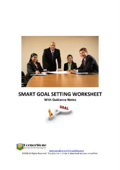 goal setting worksheet 11