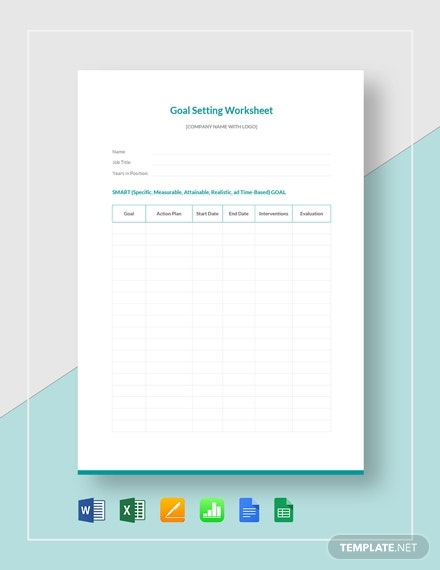 goal setting worksheet 1