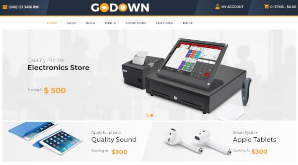 godown wpbakery page builder wordpress theme