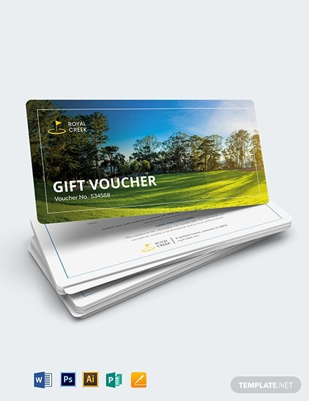 golf game gift voucher template