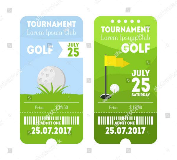 golf sport ticket set