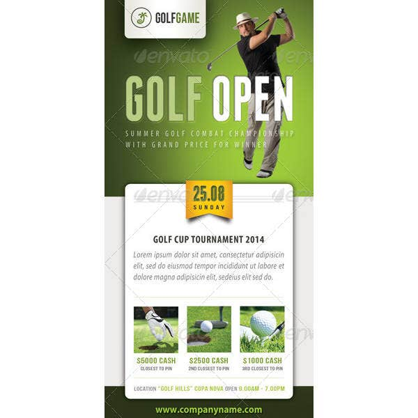 golf ticket design template