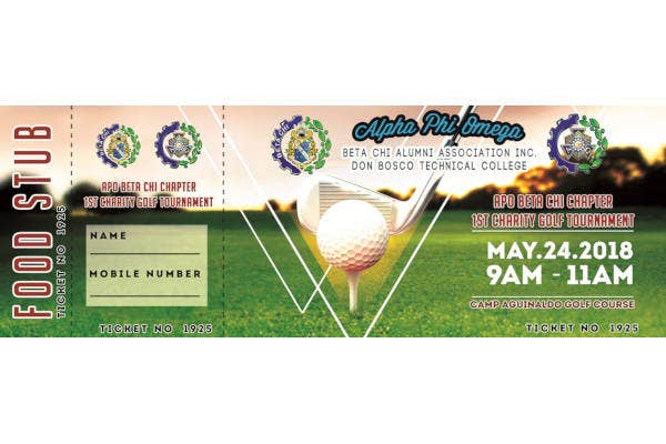 golf ticket example