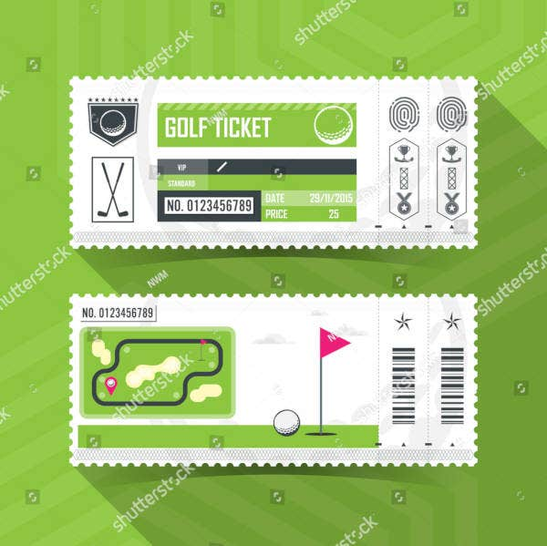 golf ticket sample