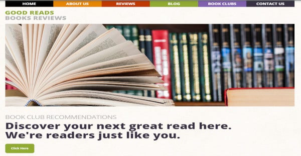 good reads – 100 responsive wordpress theme