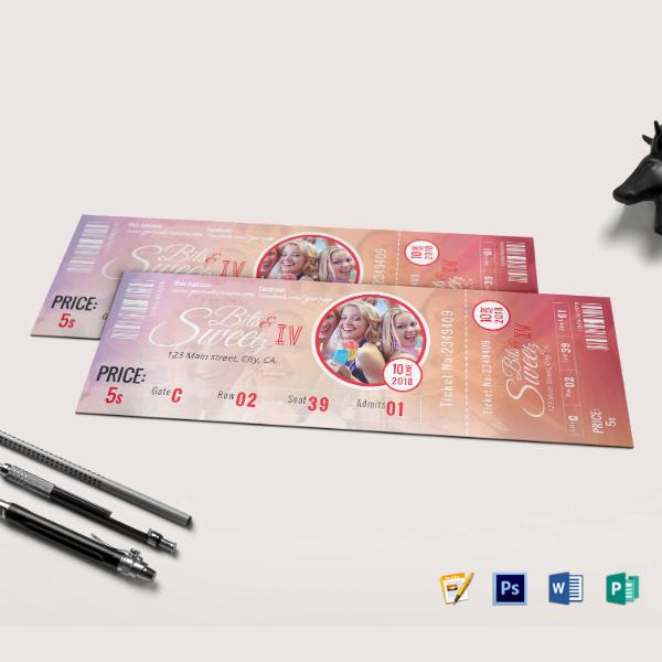 gradient vip event ticket template