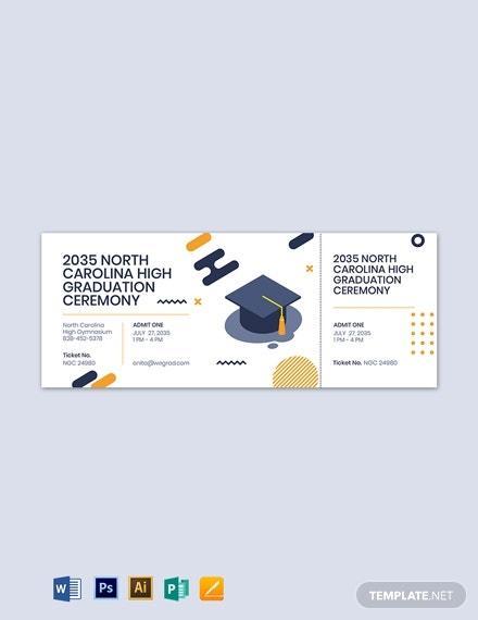 graduation boarding pass ticket template