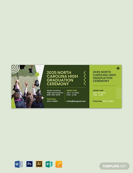 graduation ceremony ticket template