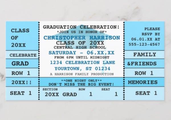graduation concert ticket