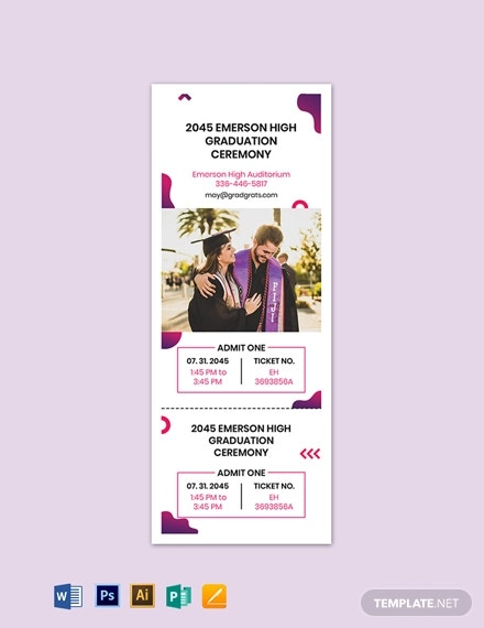 graduation gift ticket template1