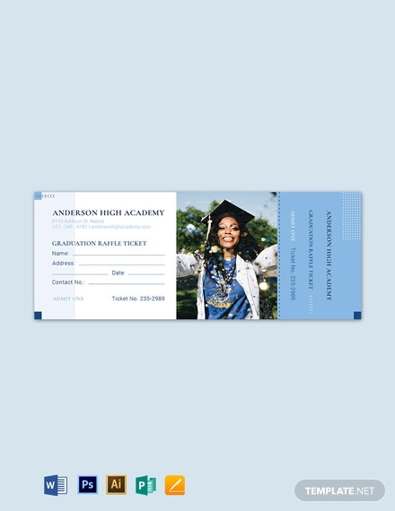 graduation raffle ticket template