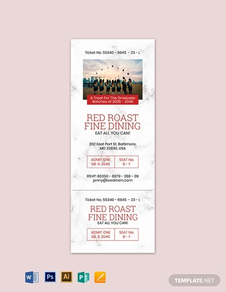 graduation ticket invitation template