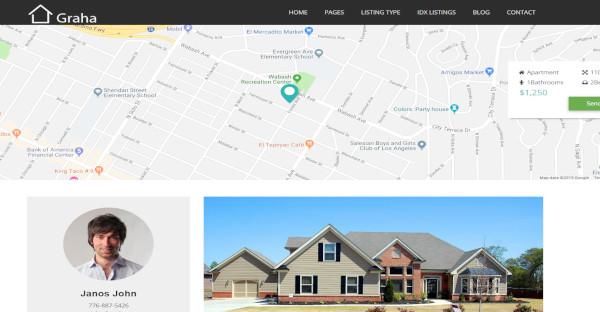 graha real estate unyson wordpress theme