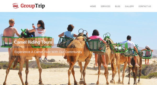 group trip – css wordpress theme
