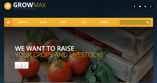 growmax – translation ready wordpress theme