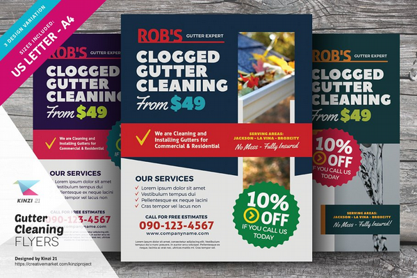 gutter-cleaning-flyer-templates