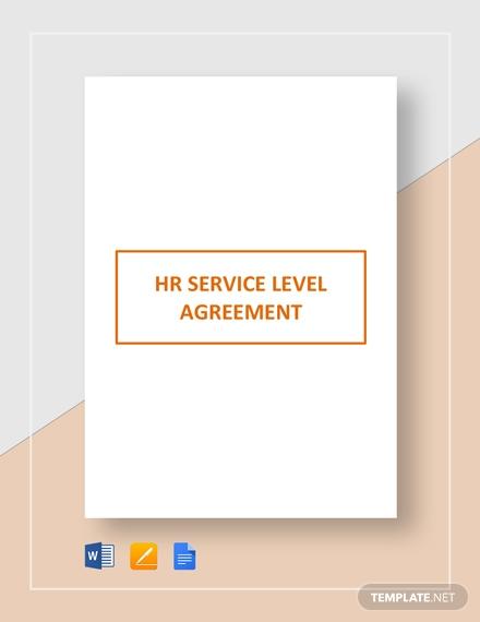 hr service level agreement