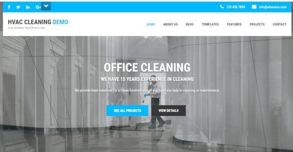 HVAC Cleaning – Multilingual Ready WordPress Theme