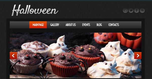 halloween highly responsive wordpress theme