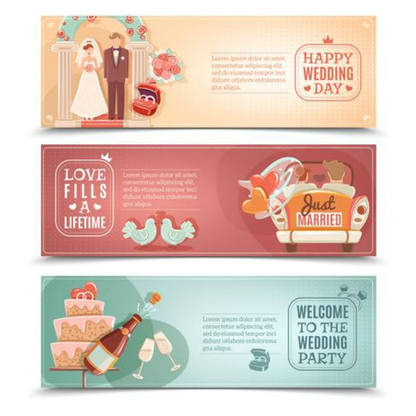 Happy Wedding Day Banner Template