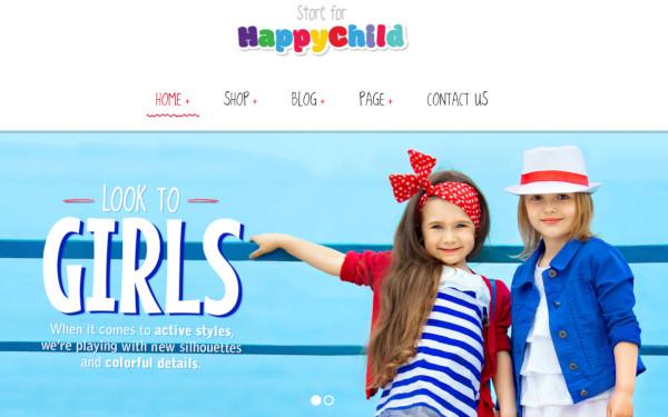 happychild – customizable wordpress theme