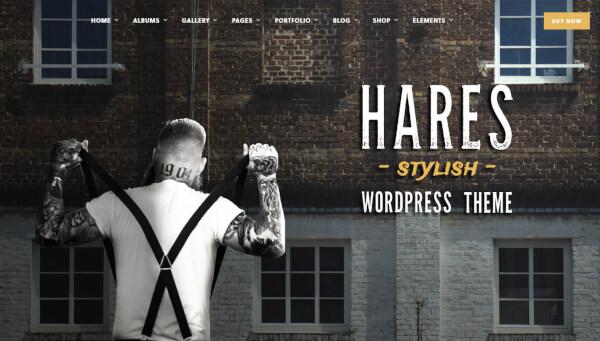 hares – clean wordpress theme