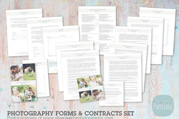 NG018 Photography Contract Template
