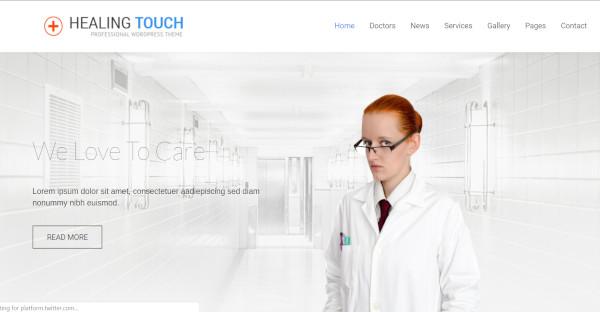 healing touch seo optimized wordpress theme