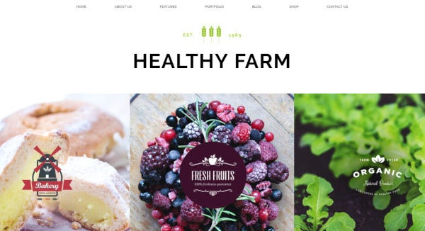 healthy farm revolution slider embedded wordpress theme