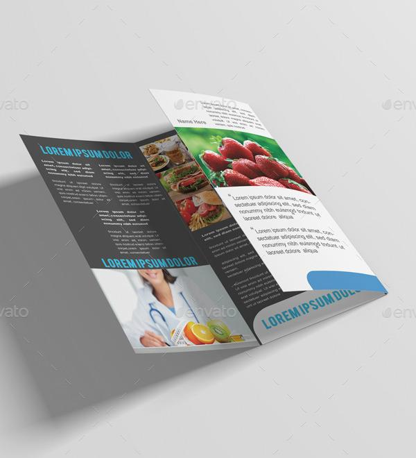 healthy food restaurant brochure design
