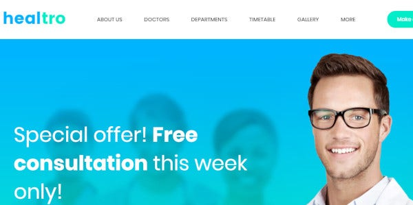 healtro one click wordpress theme