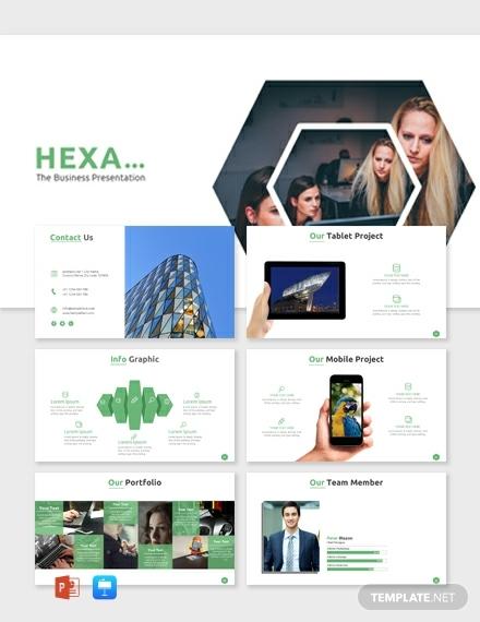 hexagon tiles business powerpoint sample