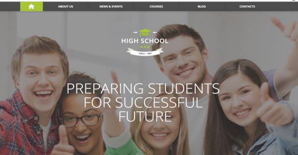 high school cross browser ready wordpress theme